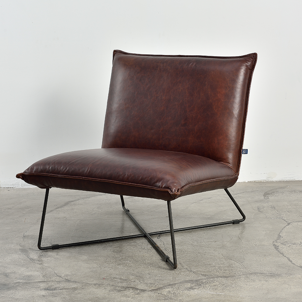 Regal Club Chair In Leather